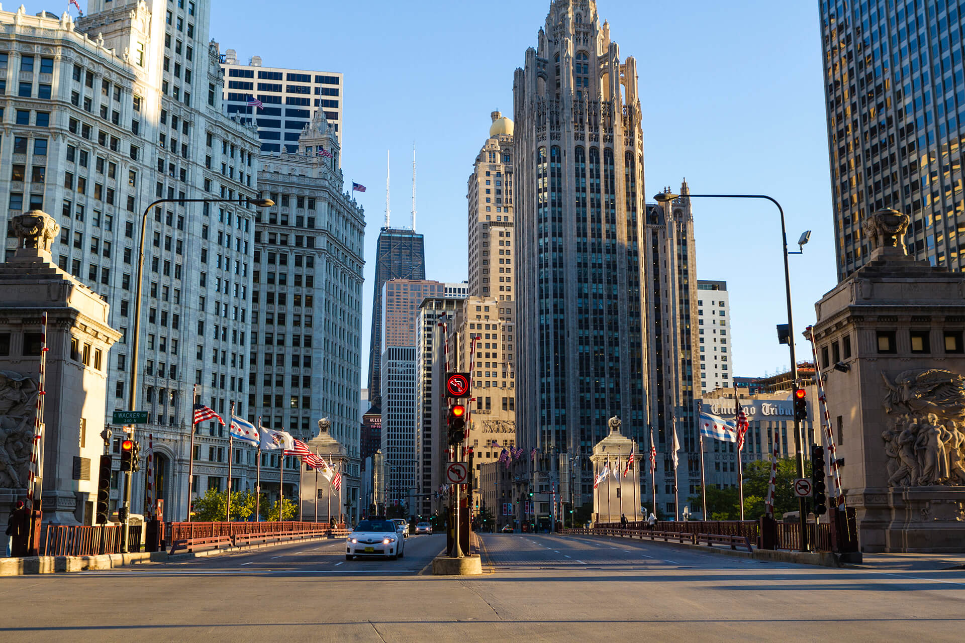 North Michigan Avenue in Chicago, Illinois, United States